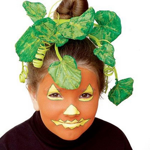 Pumpkin. Cool Face Painting Ideas For Kids, which transform the faces of little ones without requiring professional-quality painting skills.
