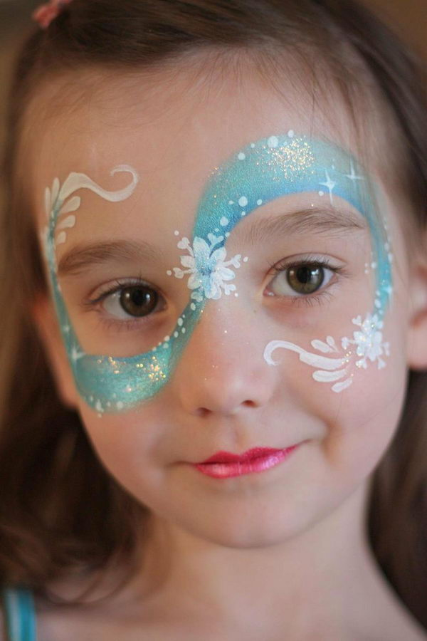 Frozen Face Painting. Cool Face Painting Ideas For Kids, which transform the faces of little ones without requiring professional-quality painting skills.