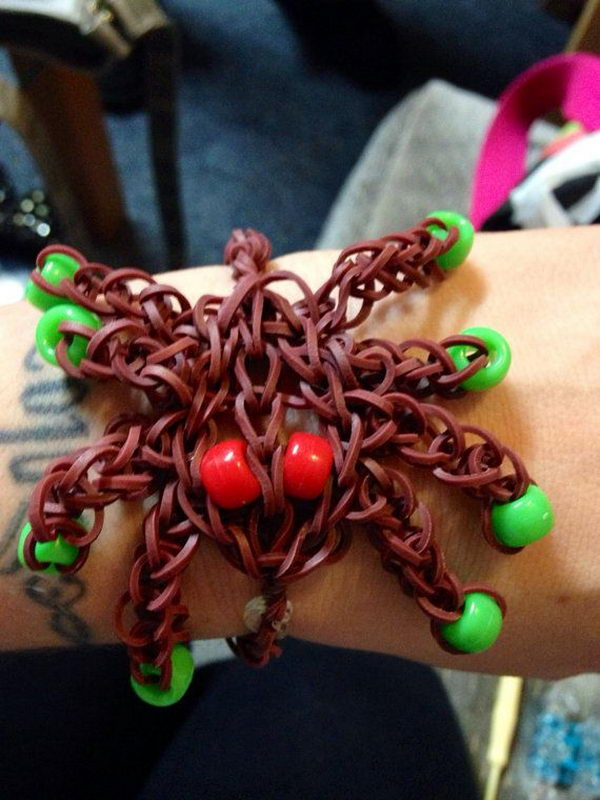 Rainbow Loom Spider Bracelet. Rainbow Loom is one of the top gifts for kids, and every kid seems to have at least one piece of rubber band jewelry.