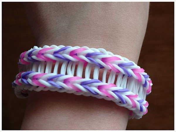 Bridged Fishtail Rainbow Loom Bracelet. Rainbow Loom is one of the top gifts for kids, and every kid seems to have at least one piece of rubber band jewelry.