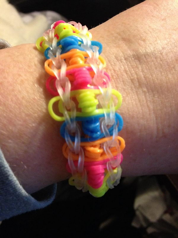 Twisted Ladder Rainbow Loom Bracelet. Rainbow Loom is one of the top gifts for kids, and every kid seems to have at least one piece of rubber band jewelry.