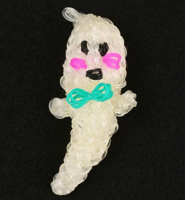 Rainbow Loom Ghost. Rainbow Loom is a plastic loom used to weave colorful rubber bands into bracelets and charms. It is one of the top gifts for kids.