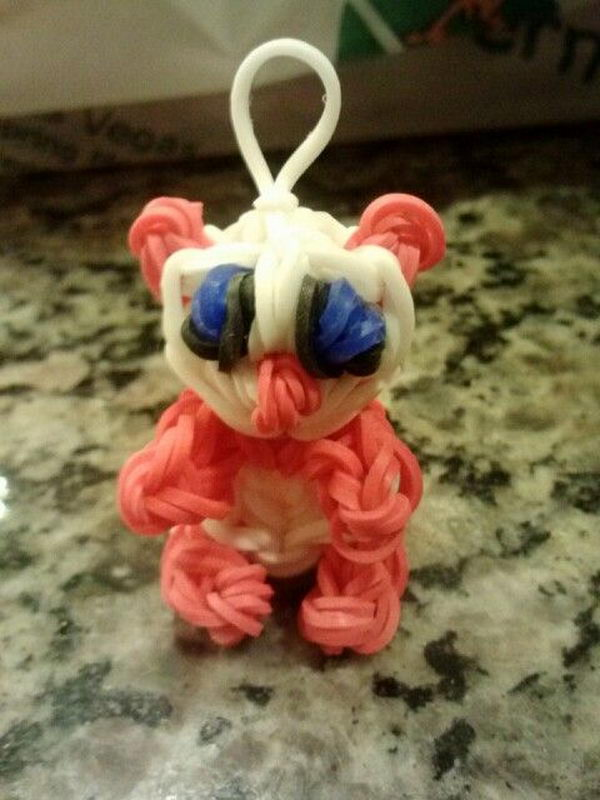 Cute Fun Loom Panda Charm. Rainbow Loom is one of the hottest craft activities for kids.