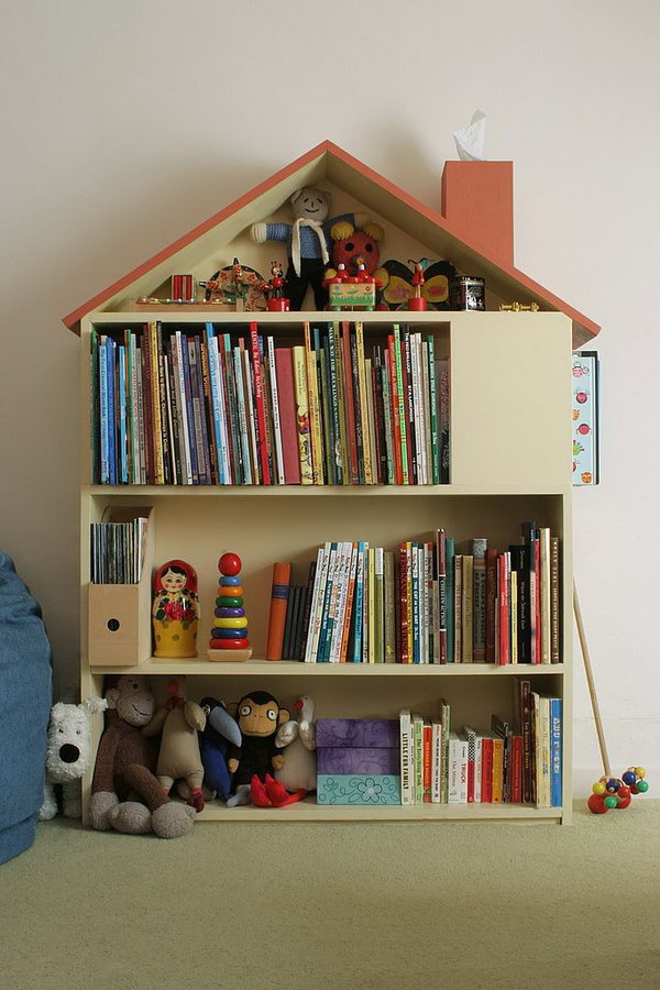 House bookshelf.