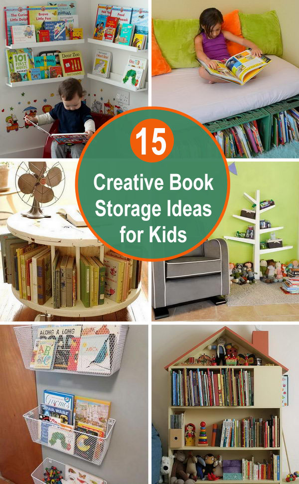 15 Creative Book Storage Ideas for Kids.