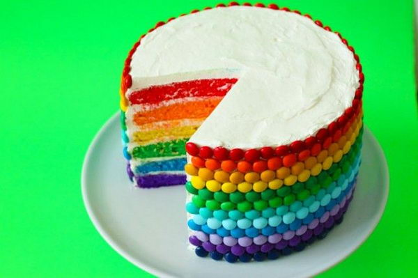 DIY Rainbow Party Decorating Ideas For Kids - Colorful diy kids cakes