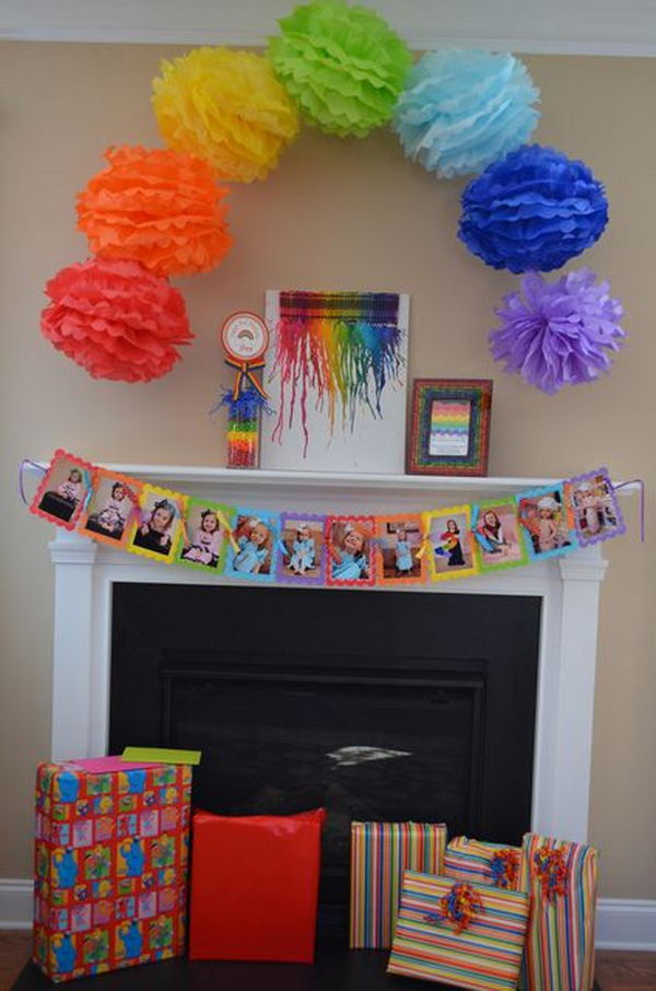 Rainbow Wall Decors. Rainbow colors are perfect for a festive event, from kids or adult birthdays to anniversaries or graduation.