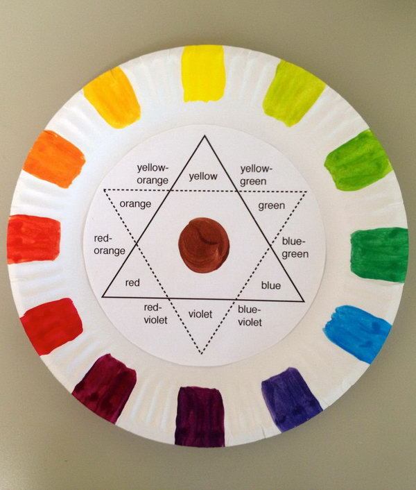 Making this paper plate color wheel teaches students how to mix the colors they want while learning the basics of color theory.