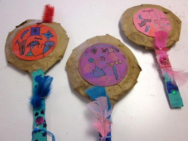 Make paper mache rattles after learning about Native American rattles, which could be used for music and dancing.