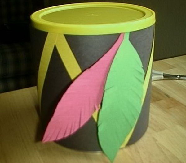 Make a Native American drum for kids to enjoy fantasy play. It can be crafted from common household items and fuel the imagination.