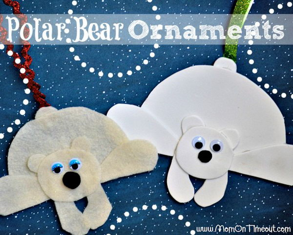 These Polar Bear Ornaments are super easy to make and a lot of fun too, They can be personalized and you can make them out of virtually any material.
