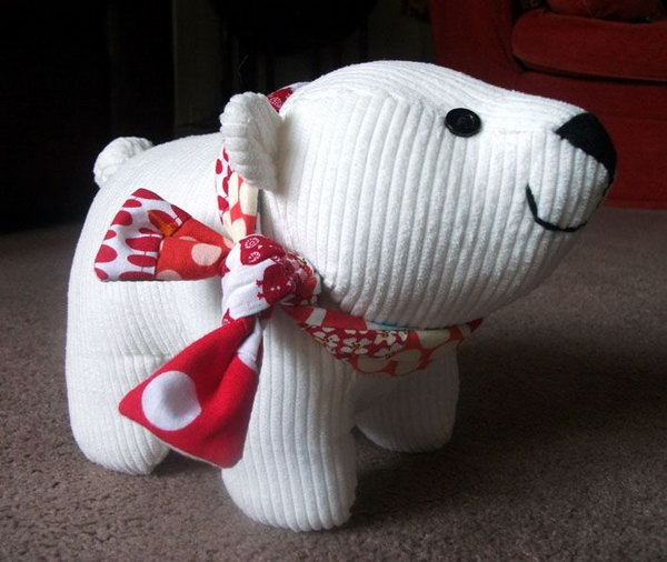 DIY polar bear cub plush toy,