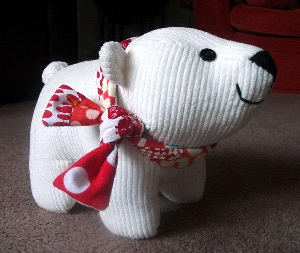 DIY polar bear cub plush toy,