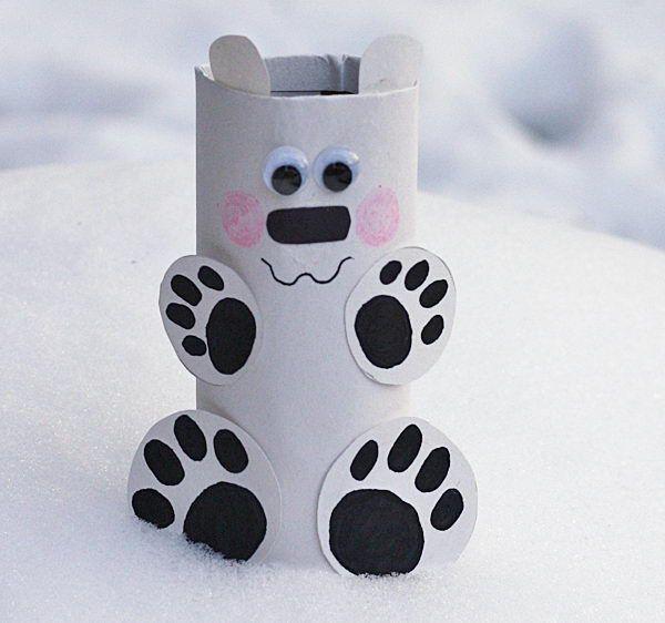 Cardboard Tube Polar Bear,