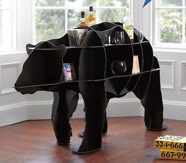 Need a bear in your house? This limited edition bear bookshelf is perfect to store your belongings when space is at a premium.