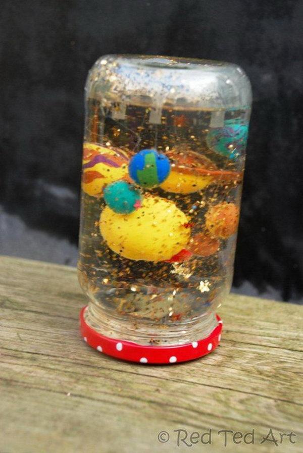 DIY Solar System Snow Globe,