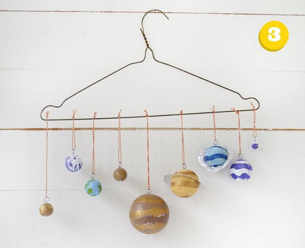 Solar system craft using a clothes hanger,