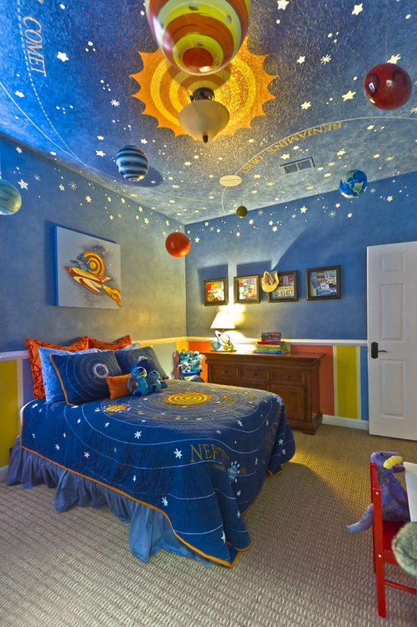 Solar System Themed Bedroom For Kids,