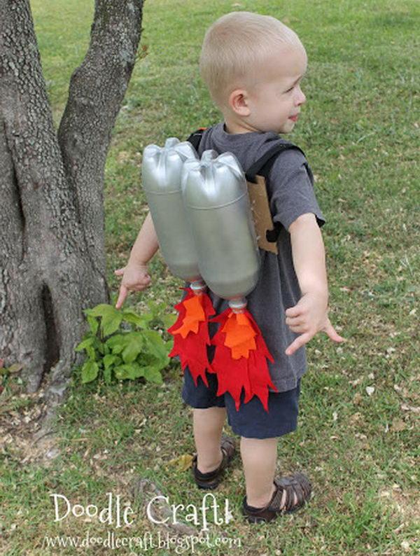 Super Sci-Fi Rocket fueled Jet Pack Craft Made From Plastic Bottles.