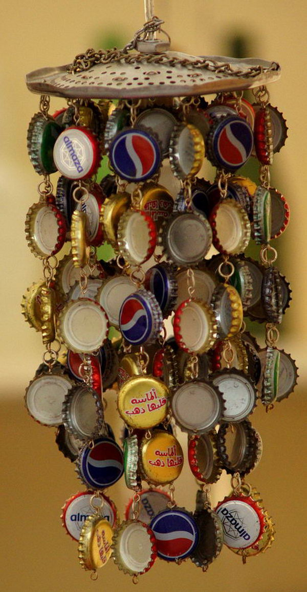 A cool bottlecap windchime,