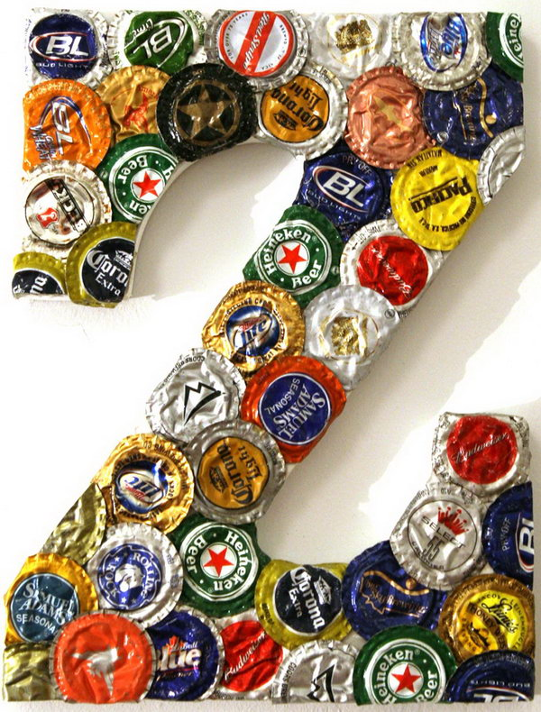 Bottle Cap Letter,