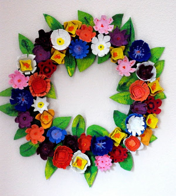 Egg Carton Wreath,