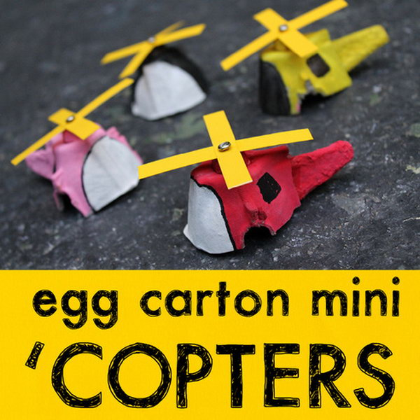 DIY Egg Carton Mini Helicopter,