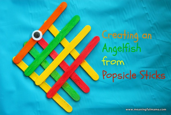 Angel fish popsicle stick craft,