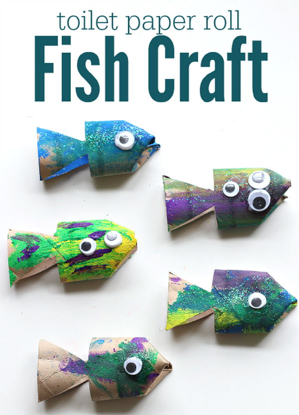Toilet Paper Roll Fish Craft,