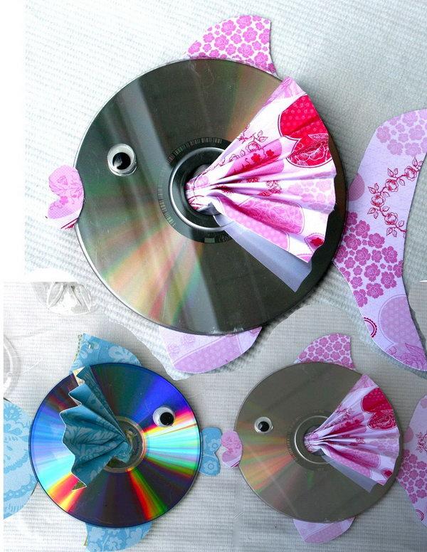 Cute CD Upcycled Fish