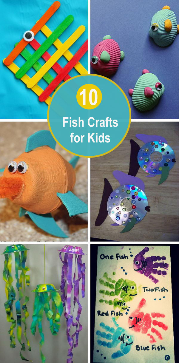 10 Fish Crafts for Kids.