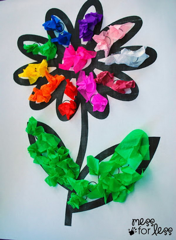 Creative tissue paper crafts for kids and adults sponge kids for Easy paper crafts for adults