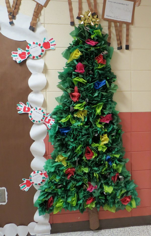 Tissue paper Christmas Tree,