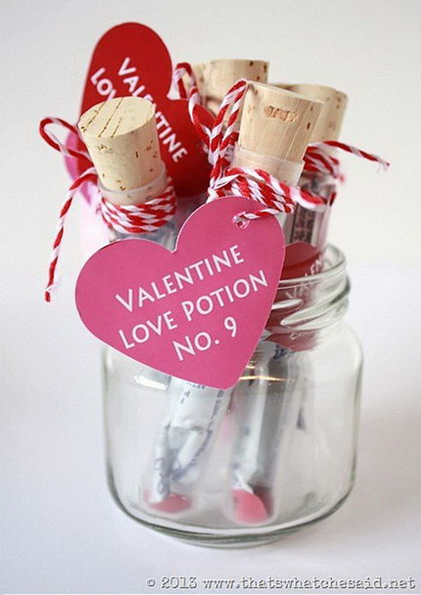 Why not give some of that love with these cute love potion valentines!  Super fun test tubes filled with a sugar free drink pack mix! Kids think they are great because they are not the normal valentine.
