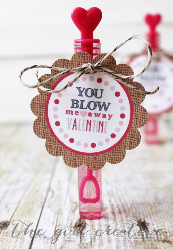 You Blow Me Away Valentine Card. Creative Valentine Cards that stand out from those of his classmates through the use of clever, interesting sayings. A fun play on words.