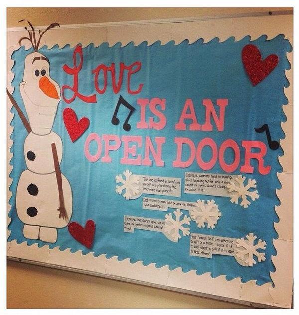 Love is an open door bulletin board,