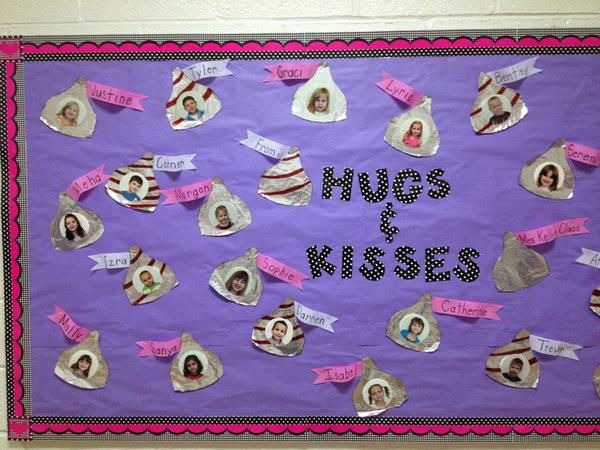 Hugs and Kisses Bulletin Board,