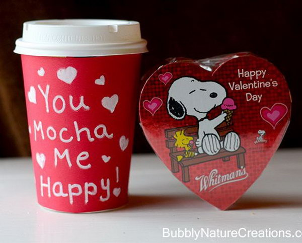 Valentines Ideas for the Coffee Lover. When it comes to Valentines day, you can't go wrong with coffee AND chocolate right? Especially when Snoopy and Woodstock are involved.