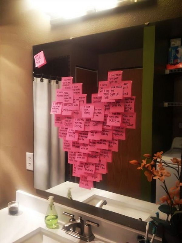 Write a different reason why you love them on each post-it note.