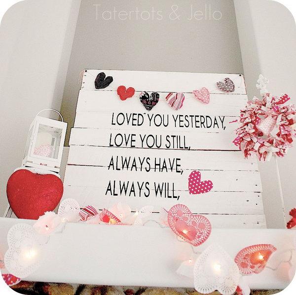 Valentine's Day Pallet Art,