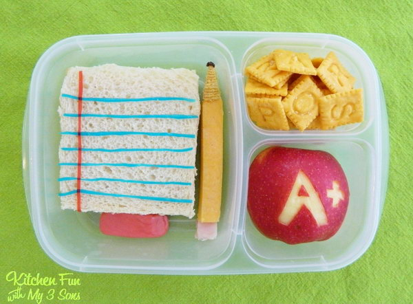 Back to school bento lunch.