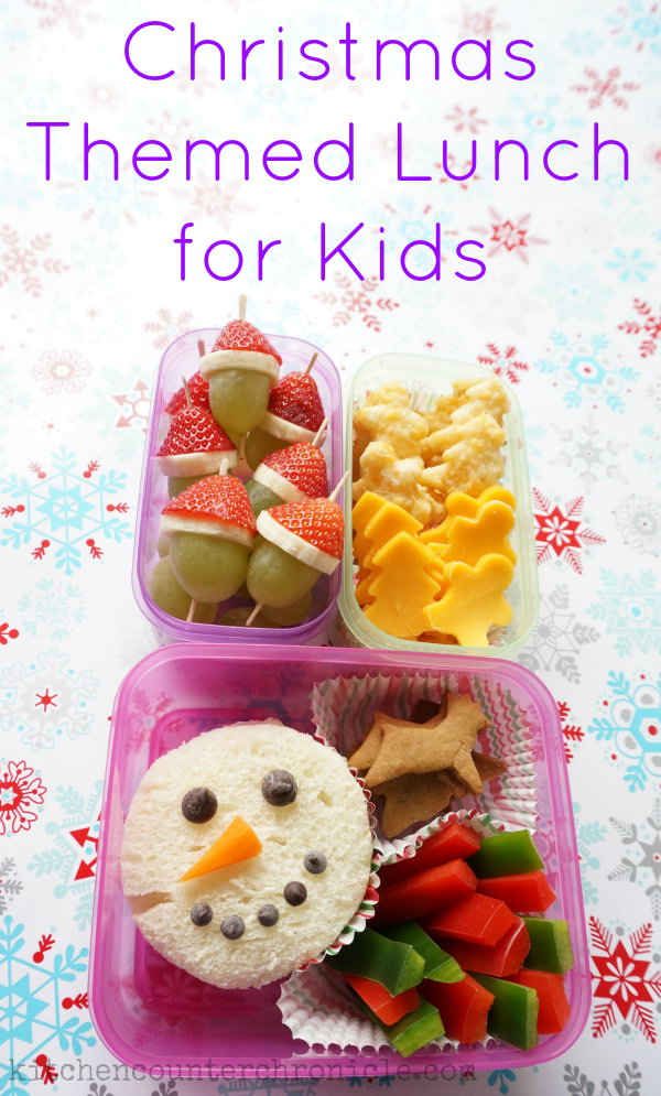 This Christmas lunch will surely make your kids delightfully surprised when they open their lunch box.