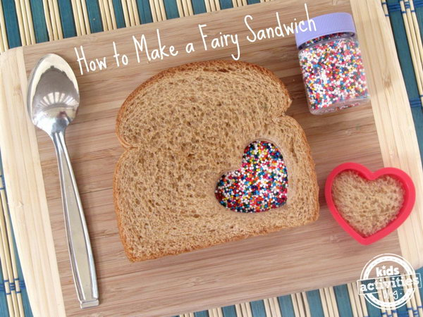 Make this adorable fairy sandwich to brighten your childs day and add a little surprise to their lunchbox. A fairy sandwich is the perfect treat to change things up in a little way, mark a special occasion, or just plan for a fun lunch.