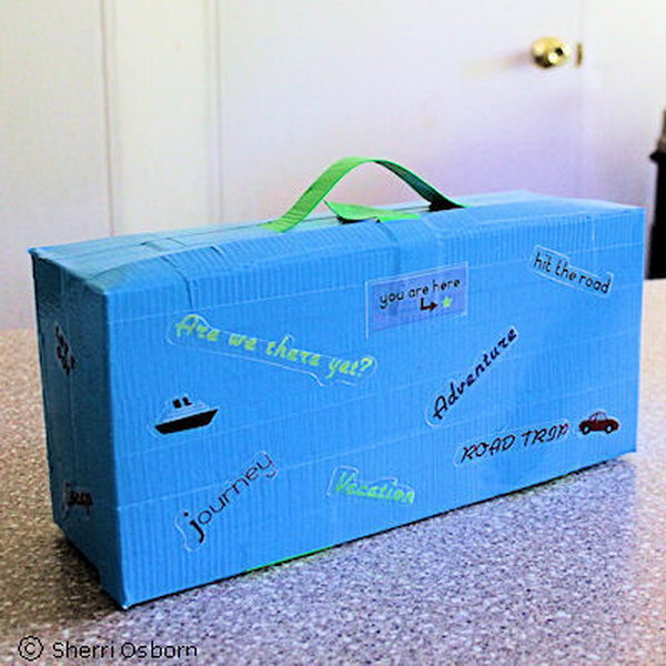 This fancy shoebox suitcase is fun to make and useful for kids. It can be used to hold private notes, secret treasures, vacation souvenirs, and so much more.