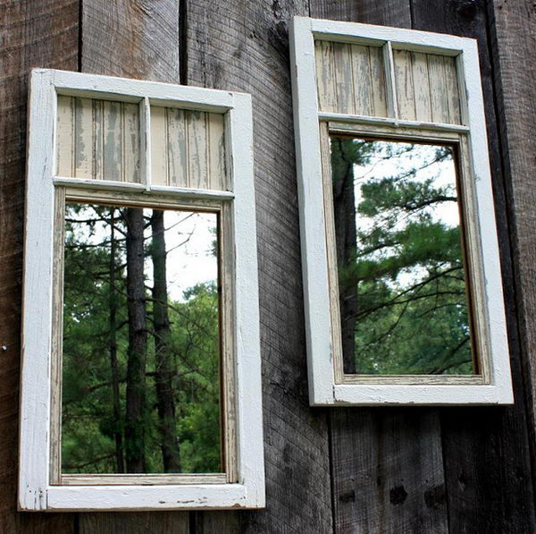 Mirrors Make Yard Look Bigger. Interesting things to do out there in your backyard. So simple and cheap to make, and you could play them with your kids or family anytime.