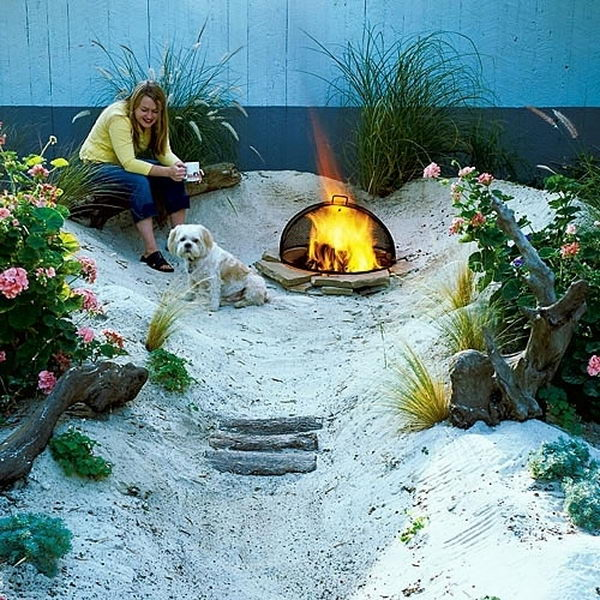 Build a Backyard Beach. Interesting things to do out there in your backyard. So simple and cheap to make, and you could play them with your kids or family anytime.