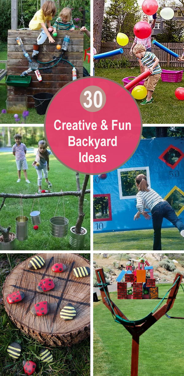 30 Creative and Fun Backyard Ideas.