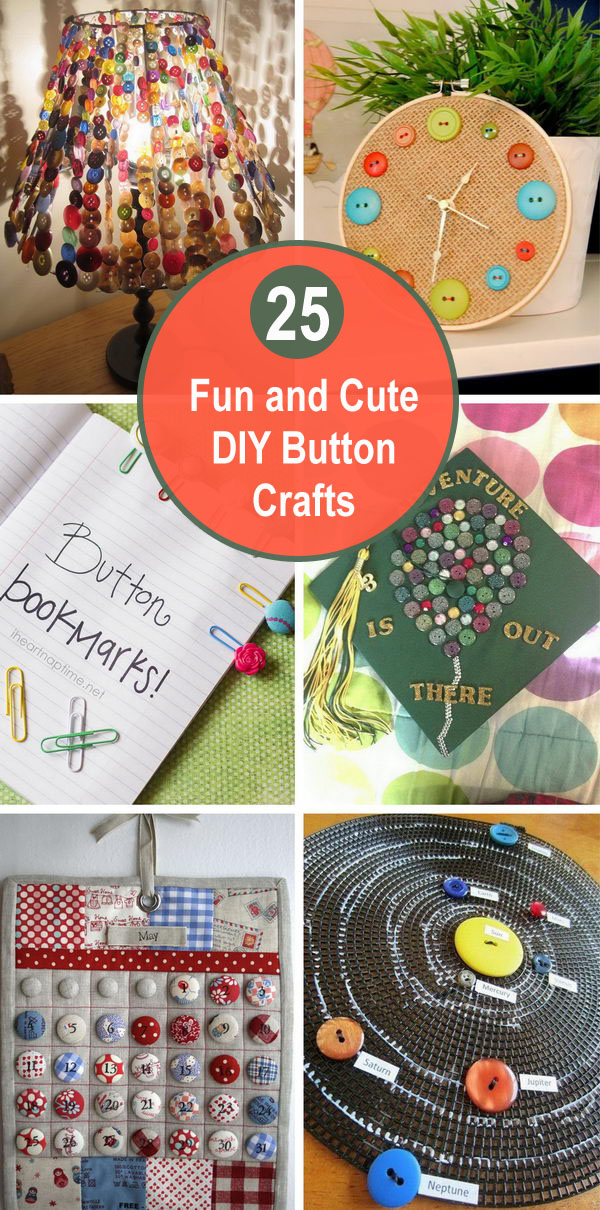 25 Fun and Cute DIY Button Crafts.