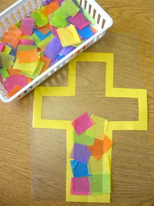 Cute easter craft ideas for kids for Cardboard crosses for crafts