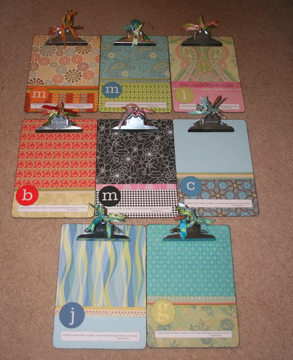 Fun Mod Podge Clipboard for Lists or Photos. Paint the chipboards with Mod Podge for keeping lists, displaying photos or giving as gifts.